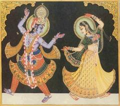 Krishna dancing