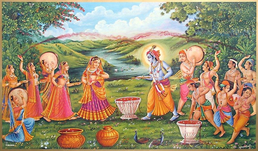 Radha Krishna On Holi Wallpapers Free Download