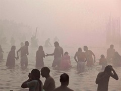Dip in Ganges